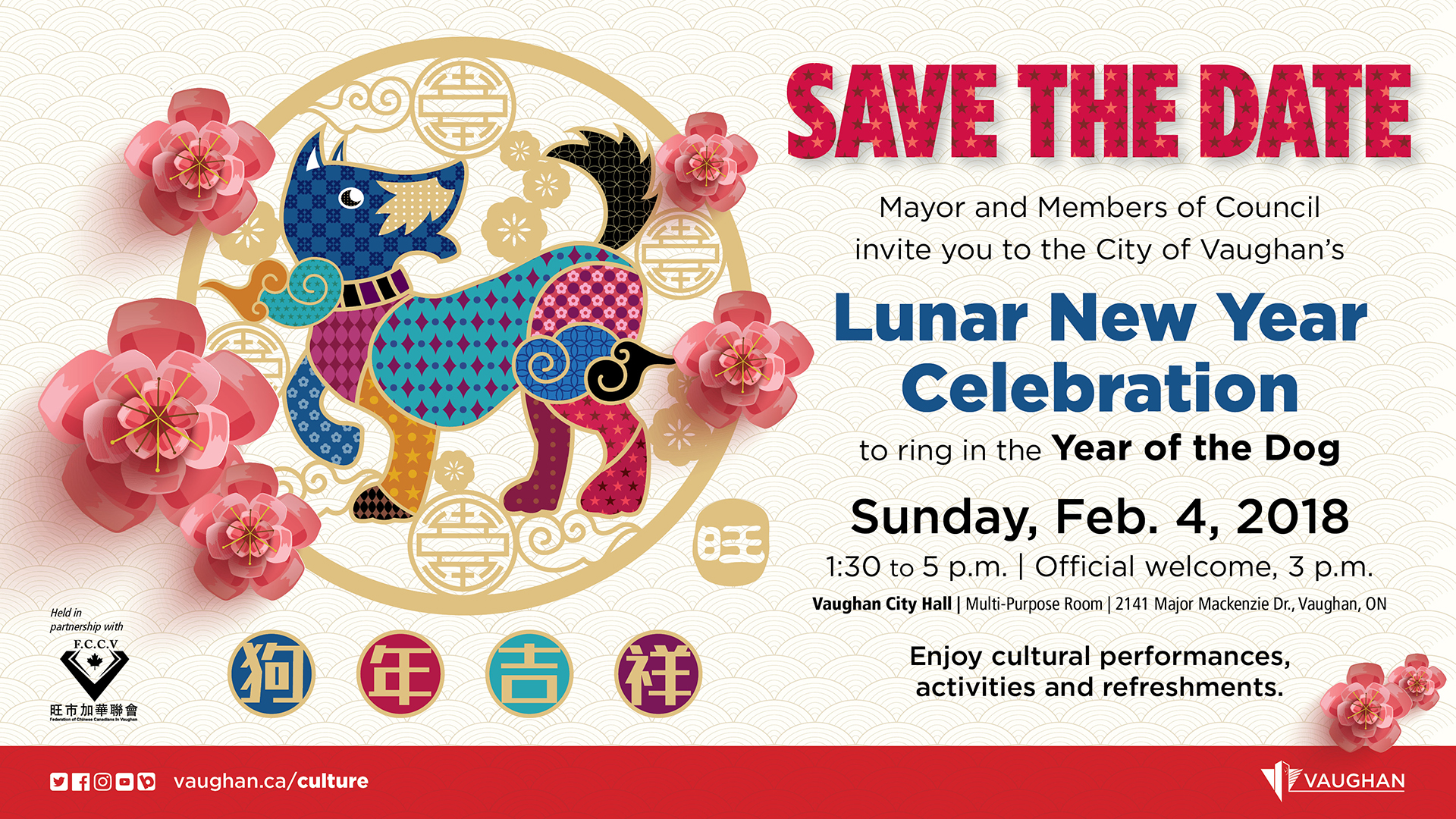 vaughan celebrates the year of the dog the lunar